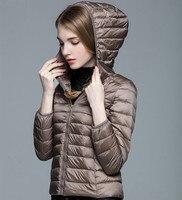 Women S Down Jacket 90 White Duck Down Coat Slim Hooded Ultra Light Jacket Female Jacket