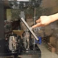 Schaber Gummi Spiegel Fenster Wischer Reiniger Glas Fenster Reinigung Pinsel Auto Washer Windschutzscheibe Waschen Werkzeuge Mit Saugnapf Haken-in Reinigungsbürsten aus Heim und Garten bei