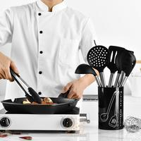Kitchen Tool 9 Pcs/set Silicone Cookware Sets Stainless Steel Handle Kitchenware Nonstick Cookware set Spoon Clip LU11291706