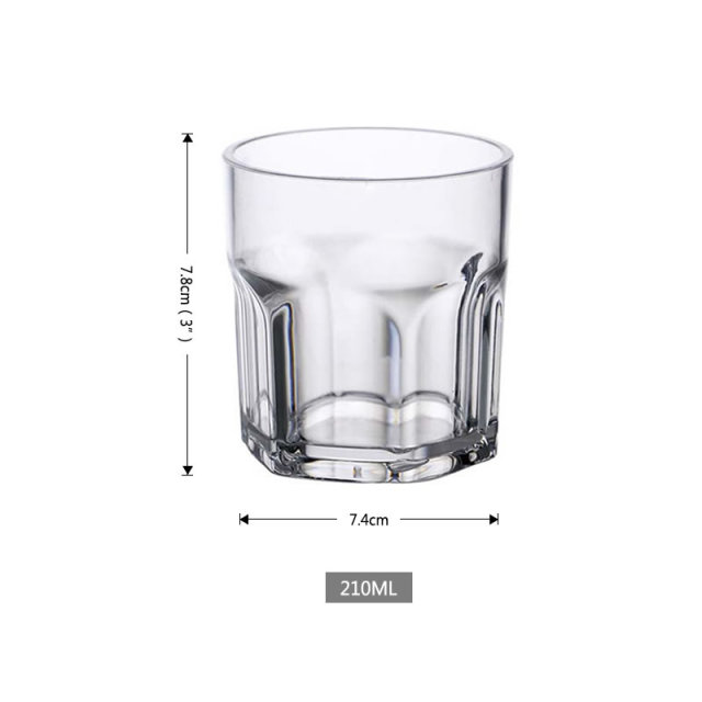 Hexagonal Drinking Cup Unbreakable Whiskey Cocktail Beer Wine Glasses