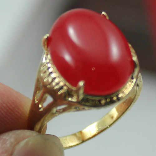 ร้อนขาย->@@ขายส่งใหม่หยกสีแดงผู้หญิง18kgpแหวน(#7.8.9) #-Top Qualityจัดส่งฟรี