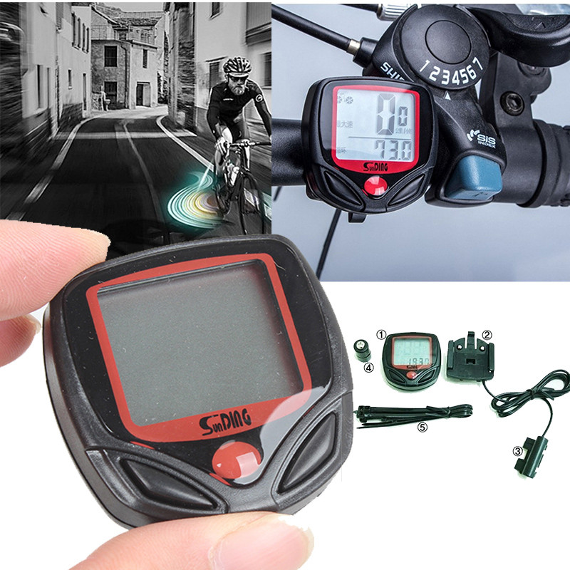 LED Display Cycling Bike Bicycle Cycle Computer Odometer Speedometer Waterproof