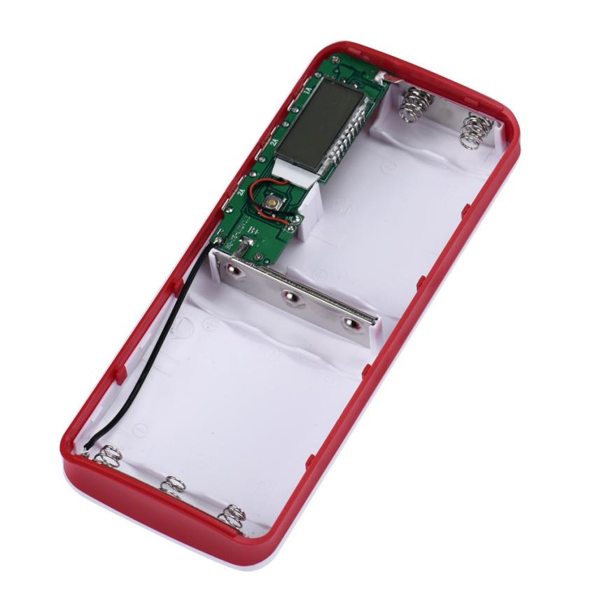 Superior Quality 3 USB Ports 5V 2A 5x18650 Power Bank Battery Box Charger For iPhone 6s Feb21