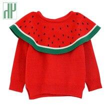 2a82a3e78 Blusas meninas New Outono Melancia Inverno crianças camisolas pulôver tops  criança vestido Crianças Encobrir bebê