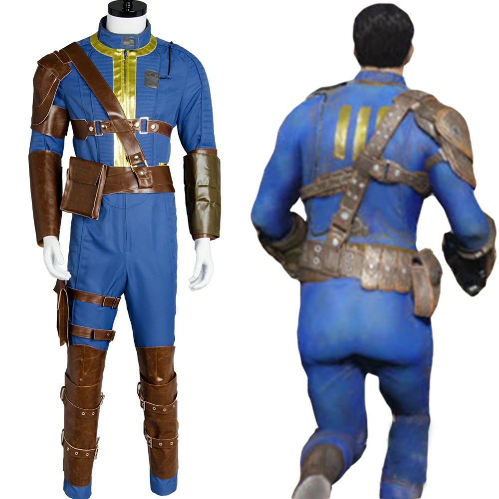 e6aa7c26847 US $128.0 |Fallout 4 FO Nate Cosplay Costume Vault #111 Outfit Jumpsuit  Uniform Sole Survivor Hot Game Halloween Party Costumes Sets Men-in Anime  ...