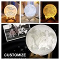 Dropship 3D Printing Moon Light Photo/Text Customized Personality Lunar USB Charging Night Lamp Touch Control 2/16 Colors