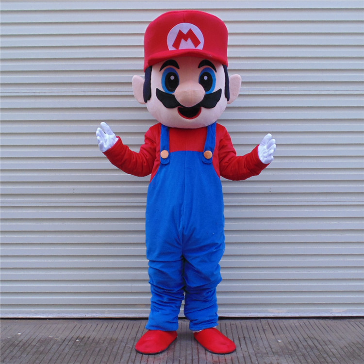 1pcs high quality Super Mario frame EVA with Plush Mascot Costume toy in box via EMS. телефон panasonic kx ts 2382 ruw спикер память 20