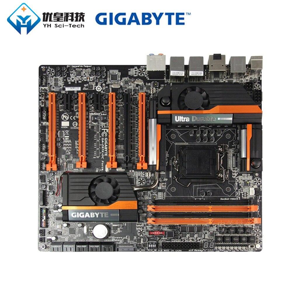 Original Used Desktop Motherboard Gigabyte GA-Z87X-OC Force Z87 LGA 1150 Core Core I7/i5/i3 DDR3 32G SATA3 E-ATX