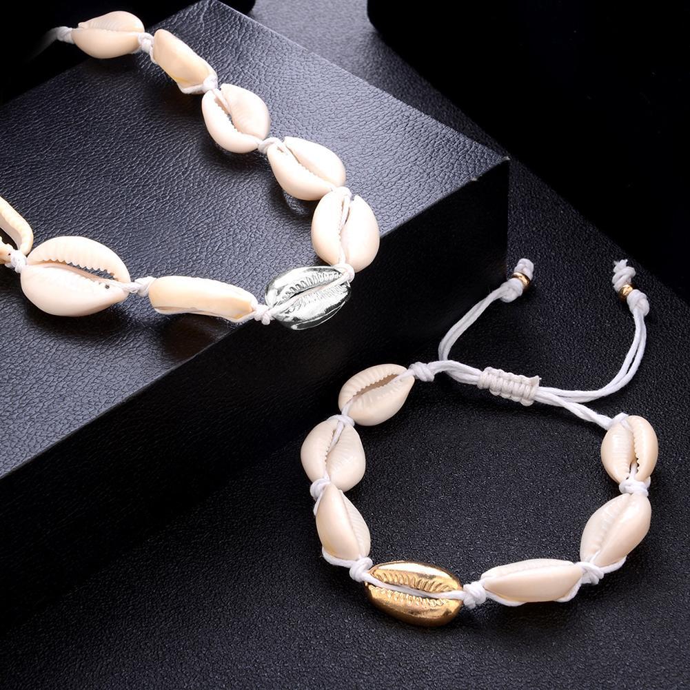 Enthousiast Vrouwen Voet Armband Decor Boho Strand Shell Patroon Touw Enkelband Fashion Sieraden