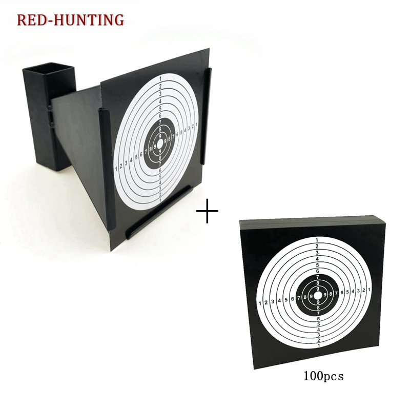 14cm Funnel Pellet Trap Replacement Targets Holder Airgun Air Rifle Shooting Paintball Accessory 100PCS Paper