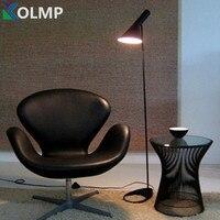 Арне Якобсен дизайн напольные светильники приспособление современный Лофт AJ торшер черный/белый металлический стенд свет для гостиная/спа