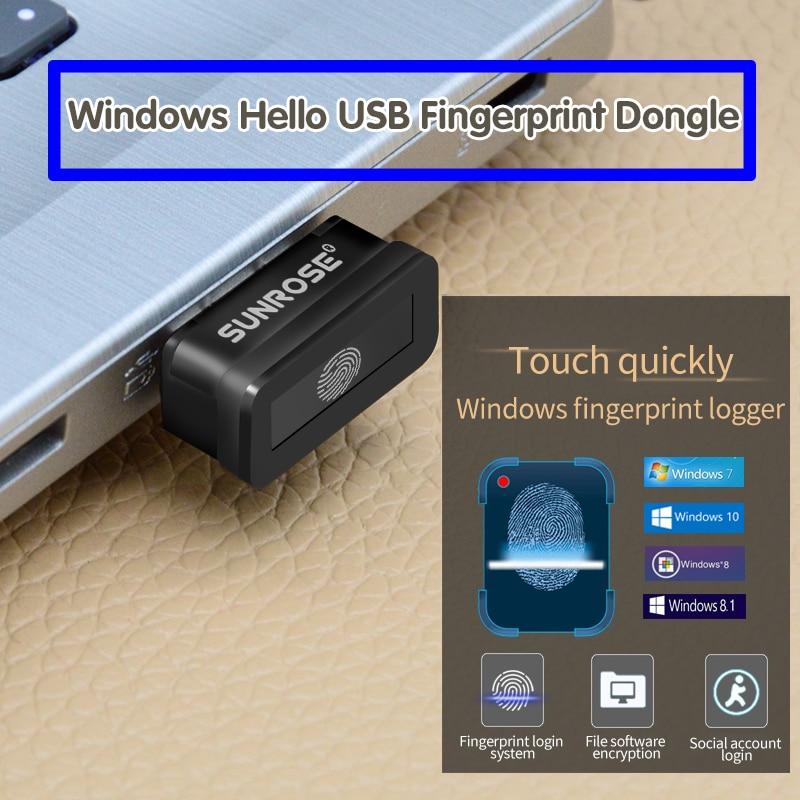 Lector de huellas digitales USB SUNROSE Win10 ordenador portátil Identificación de huellas dactilares Windows Hello cifrado