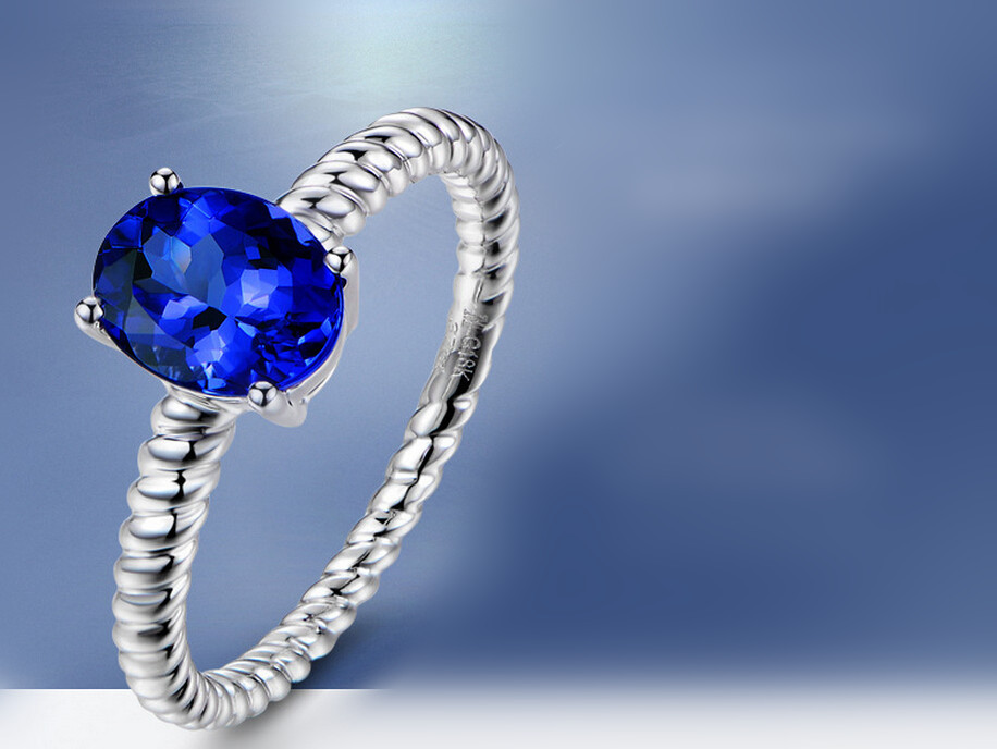 sapphire carat stone ring jewellery white precious gold diamond amp image rings