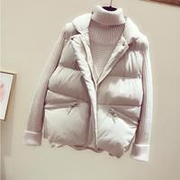 New 2019 autumn and winter women cotton vest white duck down soft warm waistcoat plus size XL female outwear brand vest coat