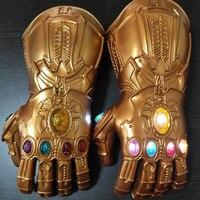 Infinity Gauntlet Thanos Gauntlet Avengers Endgame Thanos Gloves Cosplay Glove Adult Kids Boys LED Gloves Gift Halloween Props