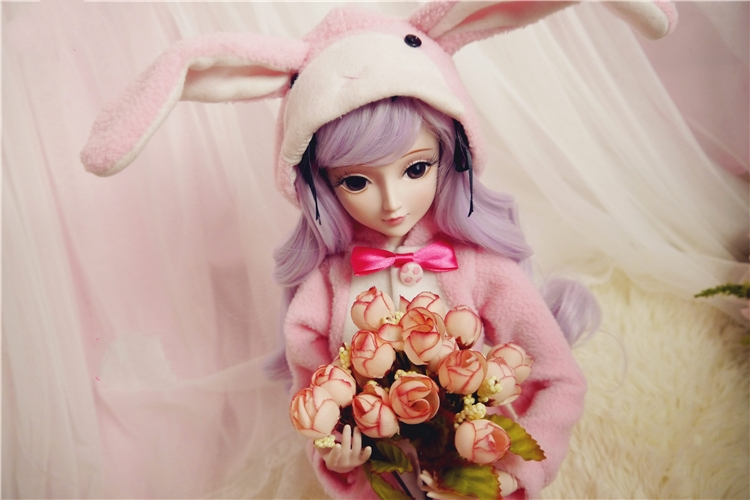 pre-sale Private custom 1/3  joint doll with eyelash cosplay include pink rabbit pajamas wigs random color shoes for bjd gift xeltek private seat tqfp64 ta050 b006 burning test