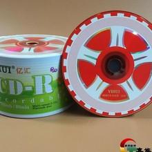 Wholesale 50 Discs Yihui Grade A 700 MB 52x Car Wheel Blank Printed Red CD-R Disc