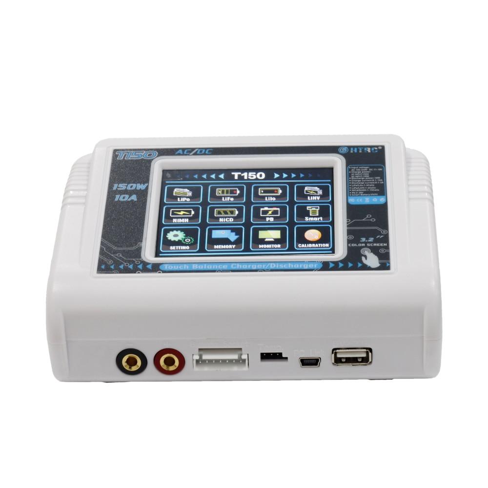 Новое поступление HTRC T150 AC/DC 150 Вт 10A Профессиональный литий-ионным LiPo/LiFe/LiHV/NiCd/ niMH/PB Батарея Smart Balance Зарядное устройство Dis Зарядное устройство