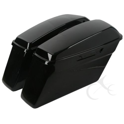 Glossy Saddlebag Hard Saddle Bags For Harley Davidson Touring Models 2014-2018 Road King Street Glide Electra FLHT FLHR FLHX black motorcycle rear view mirrors for harley flht touring flhx 2014 2016