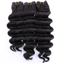 Color 2# Deep wave hair 300Gram/lot High temperature Synthetic Hair bundles 12 20 inch available hair weave