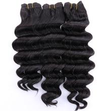 Farbe 2 # Tiefe welle haar 300 gramm/los Hohe temperatur Synthetische Haar bundles 12 20 inch verfügbar haarwebart
