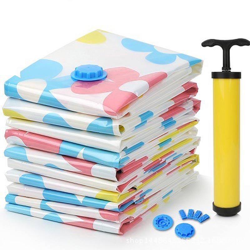 11 Pcs/ Set Thick Vacuum Waterproof Storage Bag Vacuum Compressed Bag Blanket Clothes Quilt Organizer Bag With Hand Pump Storage