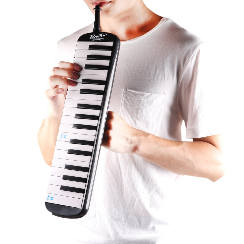 <font><b>32</b></font> <font><b>Key</b></font> <font><b>Melodica</b></font> with Carrying Bag Musical Instrument for Music Lovers Beginners Gift Exquisite Workmanship Deluxe Carrying Case image