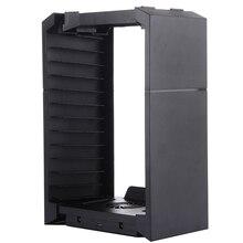 Многофункциональный Диск Хранения Башня Контроллер Зарядное Устройство для Док-Станции С Кабель Micro Usb Для PS4 PS3 Регулятор Игры