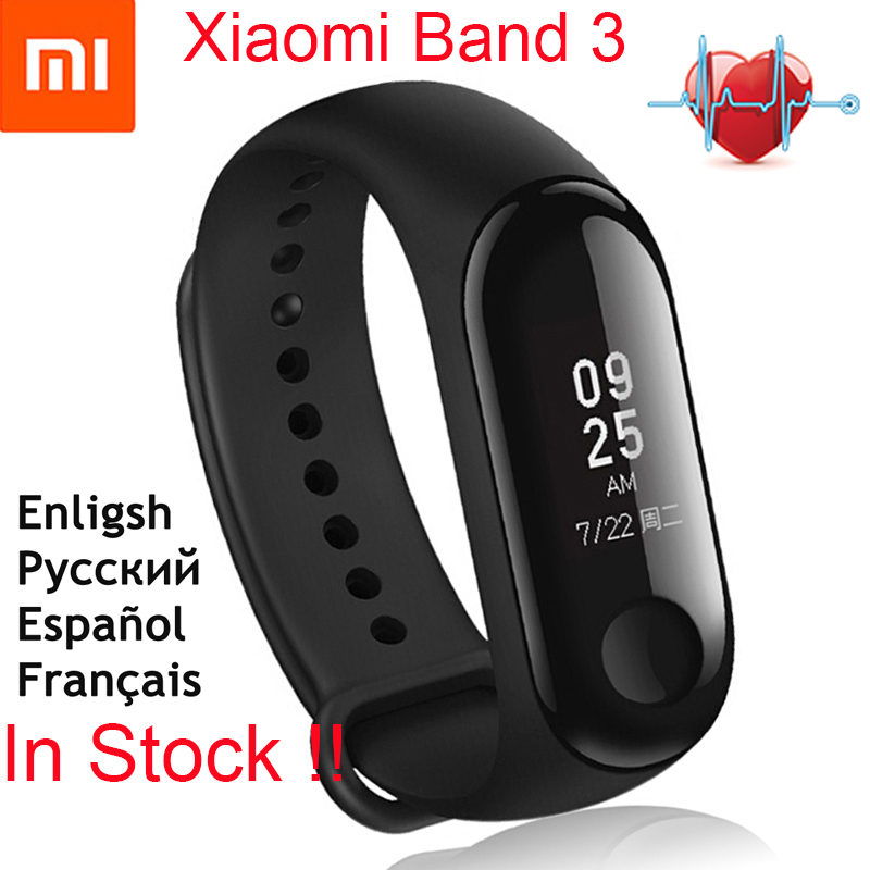 Global Version!!Original Xiaomi Mi Band 3 Smart Bracelet 0.78 OLED Touchscreen Heart Rate Step Time Smart Watch Xiaomi MiBand 3