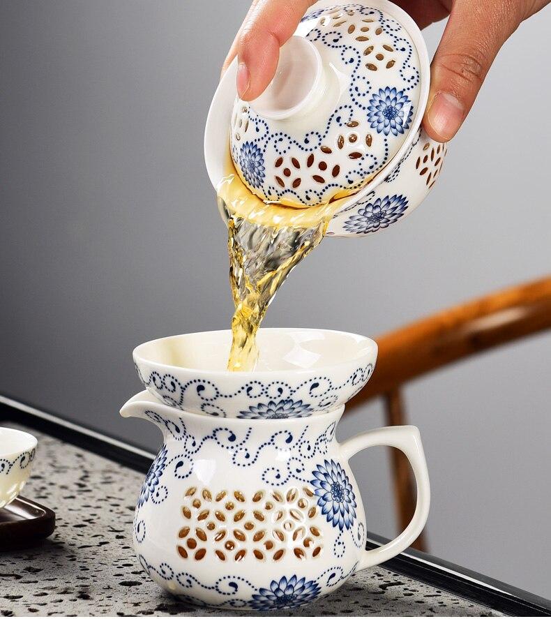 Service à Thé Porcelaine de Chine avec gaiwan  | OkO-OkO™