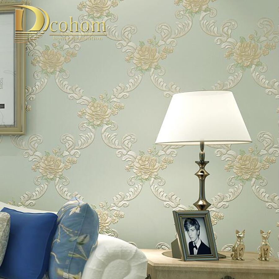 טפטים european pastoral damask floral wallpaper for 16738 | european pastoral damask floral wallpaper for walls bedroom living room decor embossed pink purple 3d flower