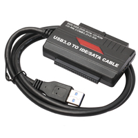USB 3 0 To 2 5 3 5 SATA IDE Hard Drive Adapter With Power Supply