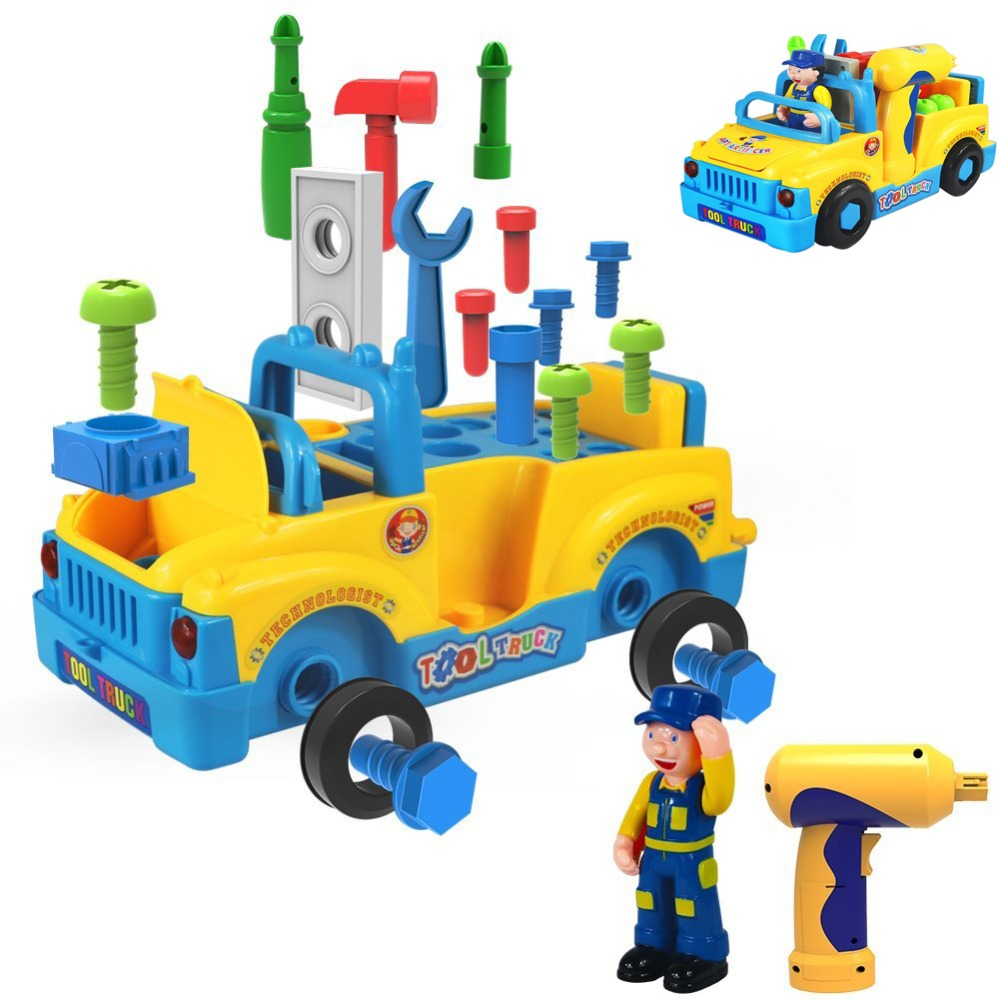 Truck Take Apart Toys For Boys Girl With Electric Drill