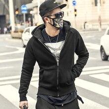 Winter Fashion Men Hoodies Brand cotton fleece mens hoodies and sweatshirts hip hop slim Casual Zipper Hooded Jacket