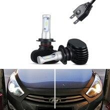 2x Canbus 6000k White 8000lm H7 Led Light LED Tip Headlight For Hyundai i40