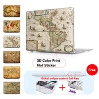 Mtt用のmacbook air 11 13ケース新しい12インチ古い世界地図ラップトップカバーmacbook proの13 15タッチバーA1706 a1708網膜a1502