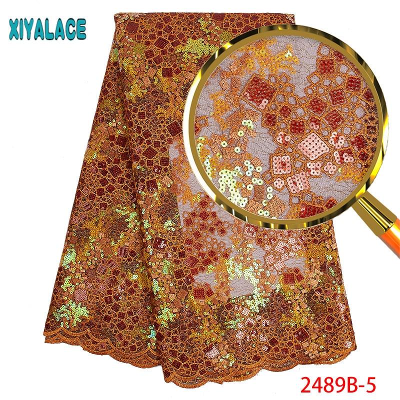 뜨거운 판매 아프리카 organza 레이스 원단 아프리카 웨딩 PGC2489B 1 대 한 고품질 아프리카 프랑스어 레이스 패브릭 스팽글 자 수-에서레이스부터 홈 & 가든 의  그룹 1