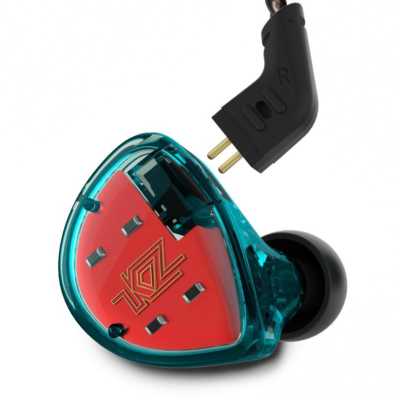 KZ ES4 armadura equilibrada con dinámico en la oreja los auriculares BA conductor cancelación del ruido auriculares con micrófono KZ AS10 ZS5 ZS6 ZS10 BA10
