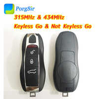 3 ปุ่ม 315 MHz 434 MHz ASK สมาร์ท Keyless Go Proximity Key สำหรับ Porsche พร้อม Hitag Pro ID49 ชิป
