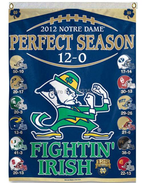 Superieur Notre Dame 12 0 Season Banner Vertical College Banner 3X5ft Garden Flag
