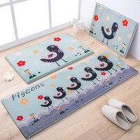 50X80+45X120CM/Set Cartoon Bird Kitchen Mat Anti Slip Bathroom Carpet Home Entrance/Hallway Doormat Children Bedroom Area Rug