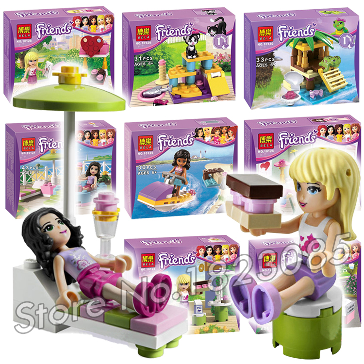 8types Friends Series Houses Animals Stephanie Mia Olivia Andrea Model Building Blocks Girls Toys Gifts Set Compatible With Lego super large 256pc building blocks set compatible with lego friends series pop star limo model brinquedos bricks toys for girls