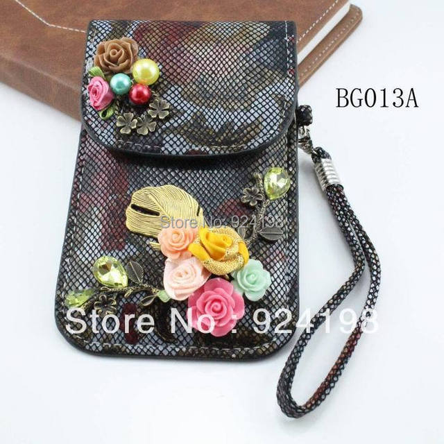 Min. order $10 luxury vintage mobile phone bag coin purse wallet for elegant women free shipping