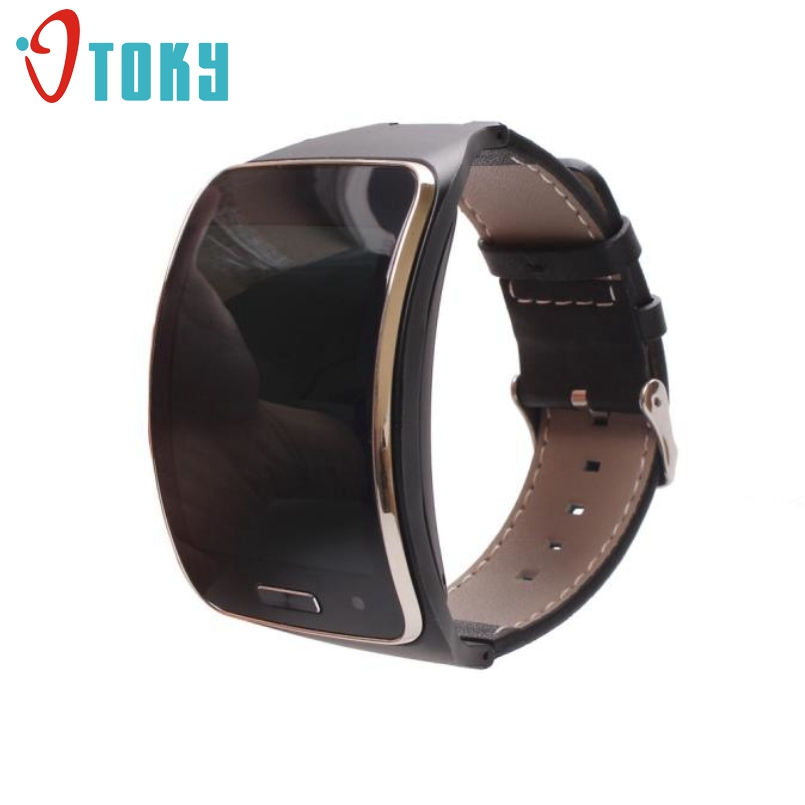 New Arrive Replacement Genuine Leather Band Strap Wristband For Samsung Gear S SM-R750 Smart Watch Bracelet Metal Clasps