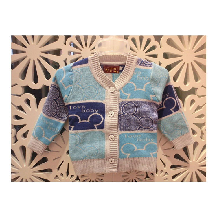 2017 Spring Fall Baby Infant Kids Cotton Knitted Sweater Newborn Casual Cardigan 0-1Yrs Boys & Girls Knitwear Foreign Trade G914
