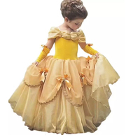 Girls Dresses Girls Princess Belle Dress with Cape Children Party Cosplay Costume Children Stage Fantasy Christams Clothes