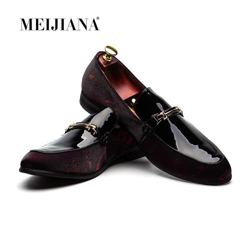 In pelle fatti a mano Degli Uomini Mocassini, MeiJiaNa Marca 2016 Design Morbido Scarpe in pelle Da Uomo-in Scarpe casual da uomo da Scarpe su  Gruppo 1