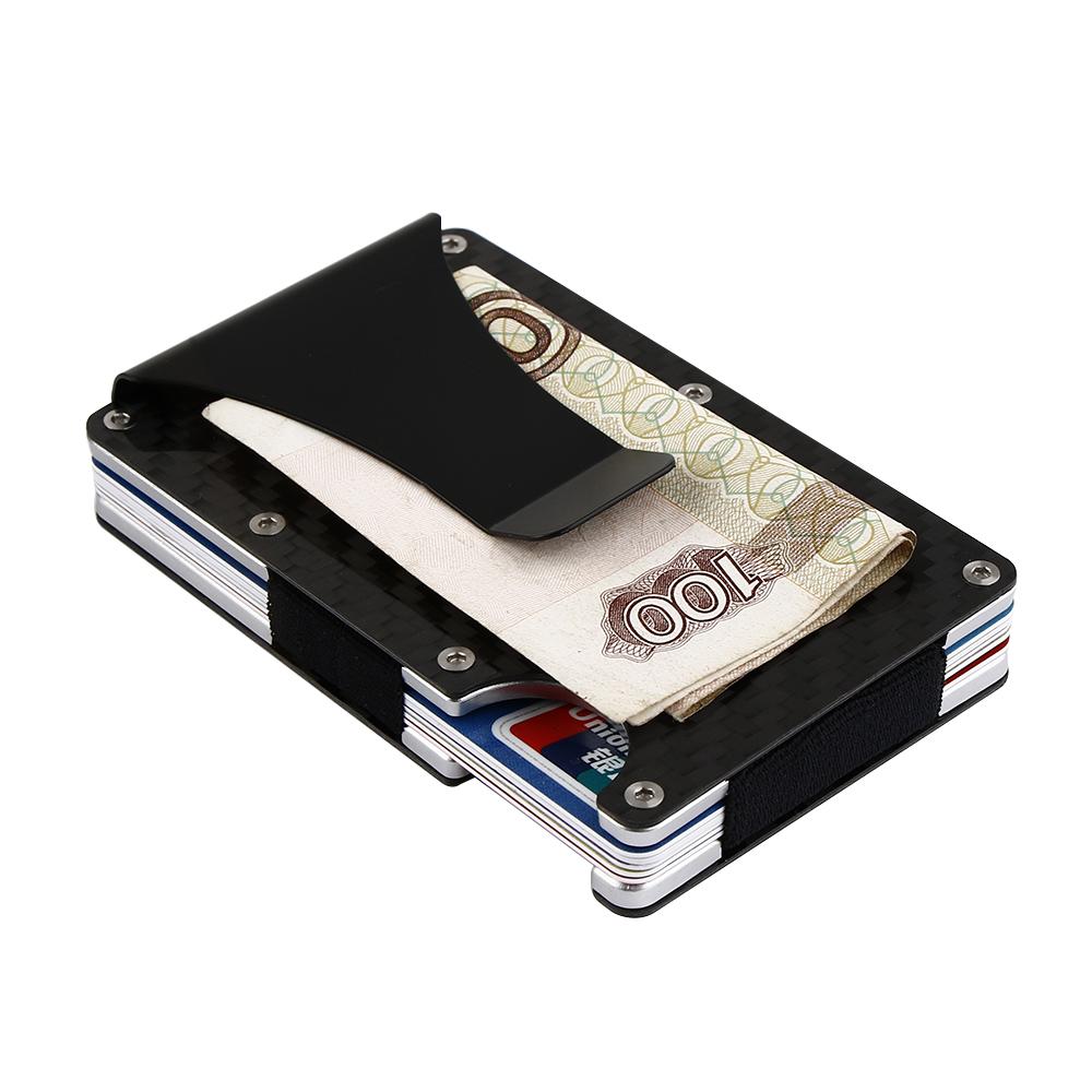 Us 7 26 20 Off 7mm Thin Metal Rfid Wallet Men Business Card Holder Magnetically Shielded Anti Theft Large Capacity Card Id Holders In Money Clips