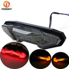 цены на New Motorcycle Smoke LED Tail Lights Rear Brake Taillight Turn Signal Lights Blinker Lamp Light For Yamaha MT 09 FZ09 2014 2015  в интернет-магазинах