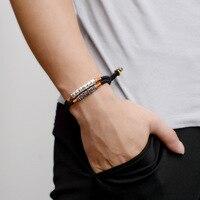 BOEYCJR Tibetan Buddhism Bangles & Bracelets Fashion Jewelry Handmade 999 Silver Bar Braided Rope Bracelet for Men For Women